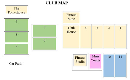 Thongsbridge Tennis Club Map