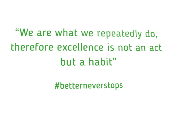The Powerhouse - We are what we repeatedly do - therefore excellence is not an act but a habit